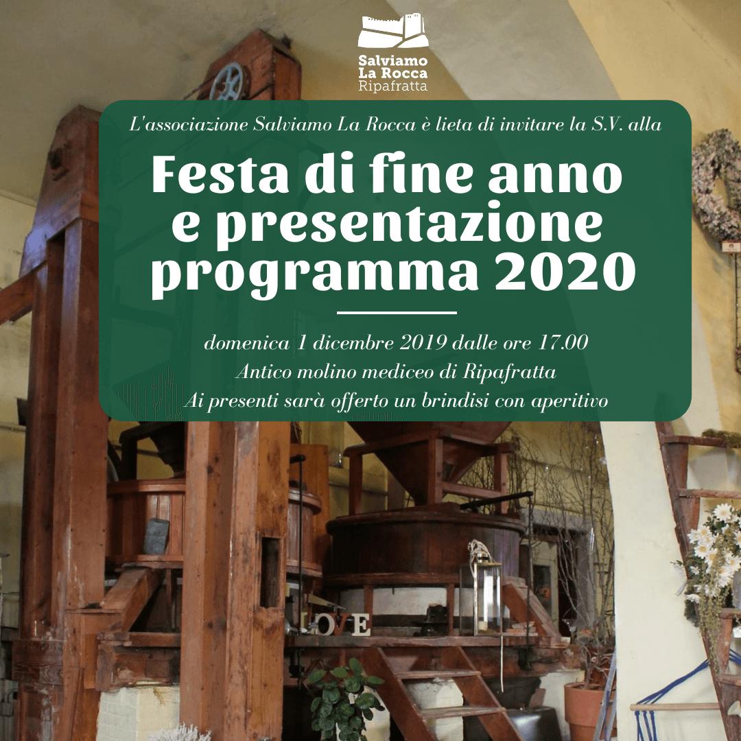 1 DICEMBRE 2019: Festa di fine anno sociale e presentazione programma 2020