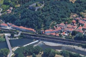Il borgo di Ripafratta visto dall'alto
