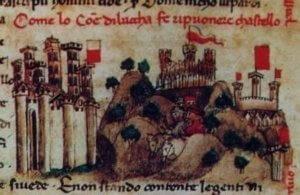 Ripafratta (a destra) nelle Croniche del Sercambi