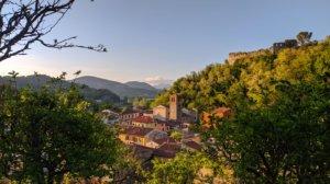 La Rocca e il borgo di Ripafratta al tramonto